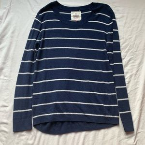 SO Navy Blue White Striped Perfect Pullover Large